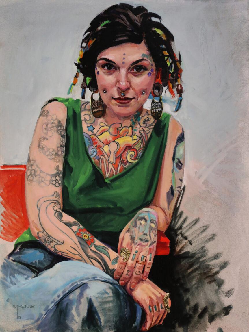 """Cheryl"" by Brian McClear | Ink & Oil"